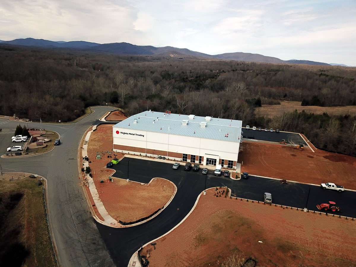 Virginia Metal Treating New Facility Aerial View